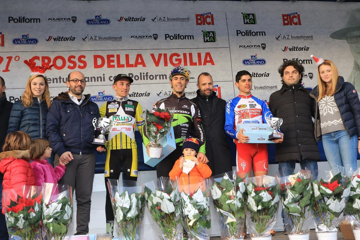 Il podio Open maschile di Lurago d'Erba