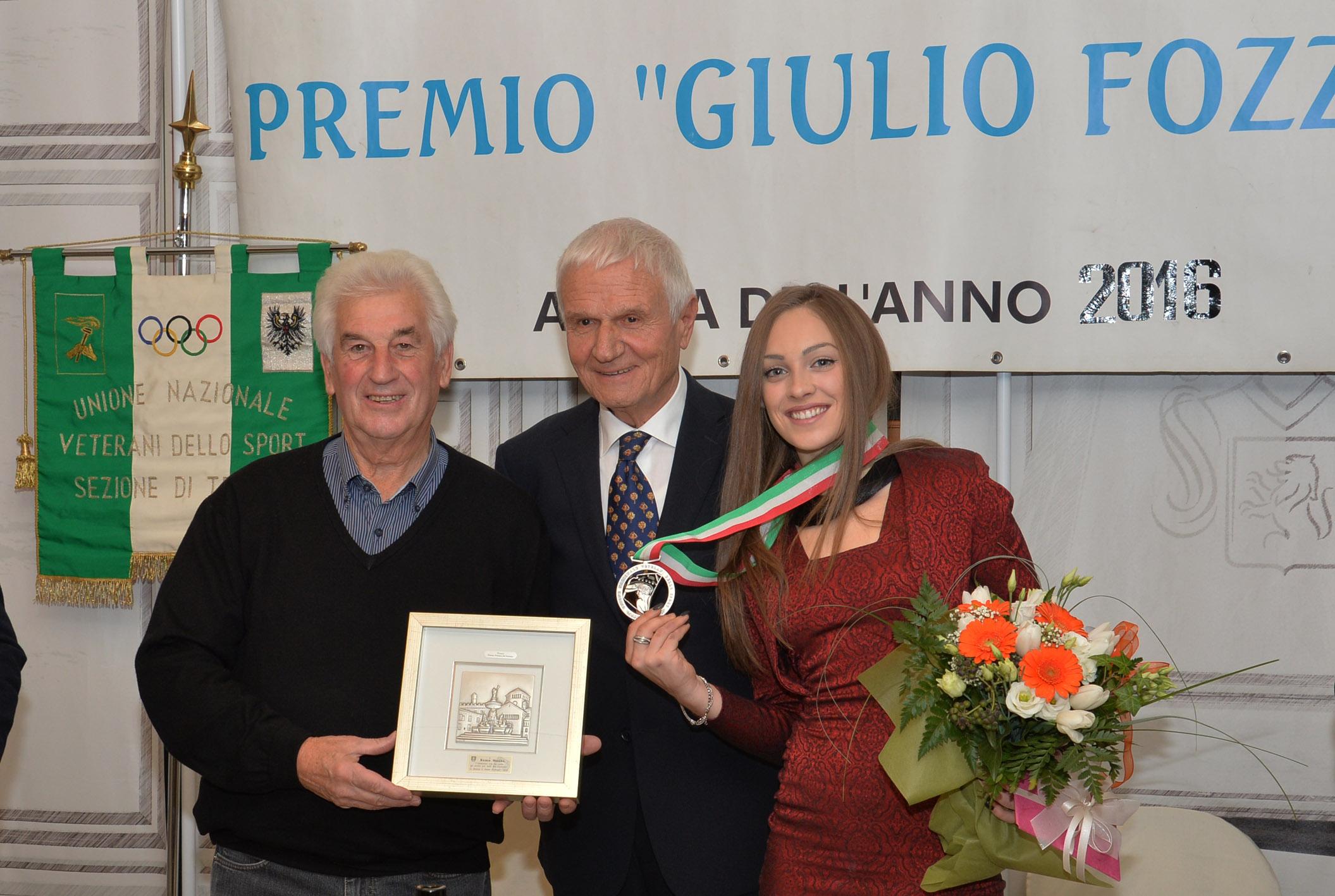 L'Unione Nazionale Veterani dello Sport di Trento premia Letizia Paternoster e Remo Mosna
