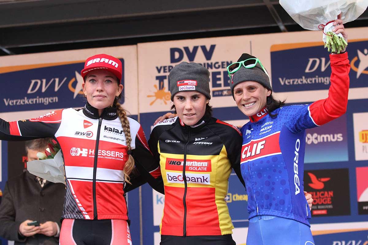 Il podio femminile di Anversa
