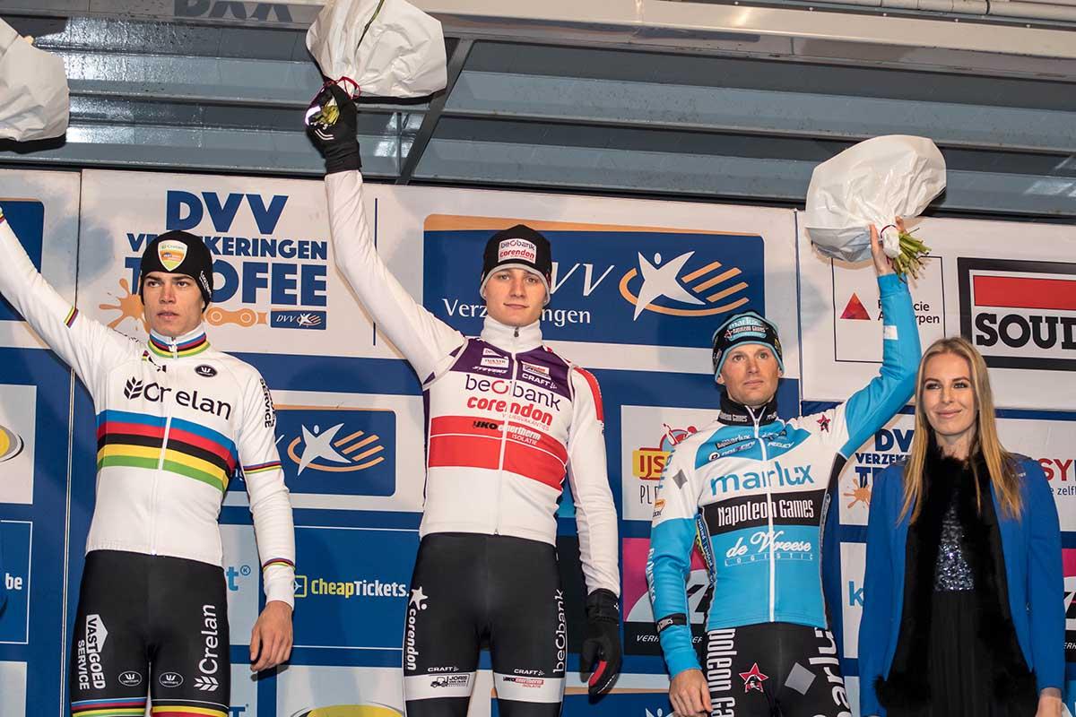 Il podio maschile di Anversa