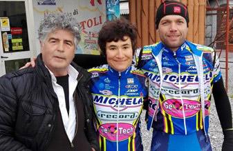 Brunello Fanini con Anna Ceoloni e il ds Mirko Puglioli