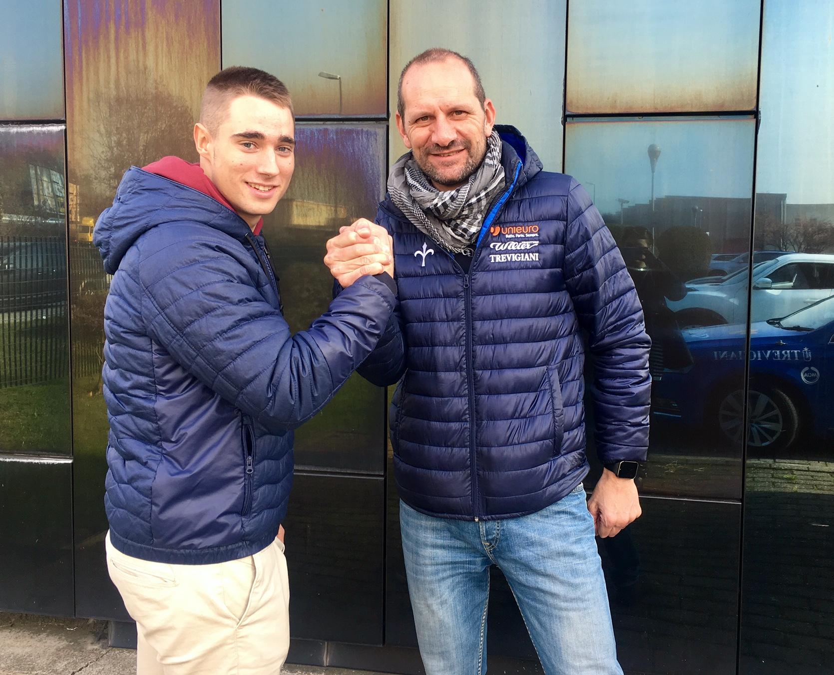 Lo spagnolo José Daniel Viejo Redondo con il ds Marco Milesi