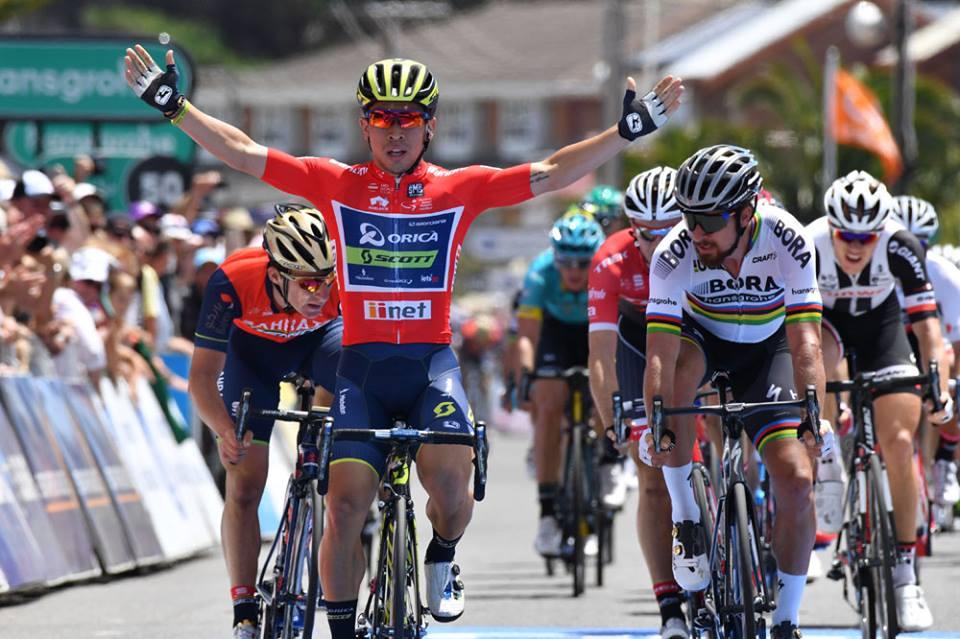 Caleb Ewan batte Peter Sagan nella terza tappa del Tour Down Under 2017