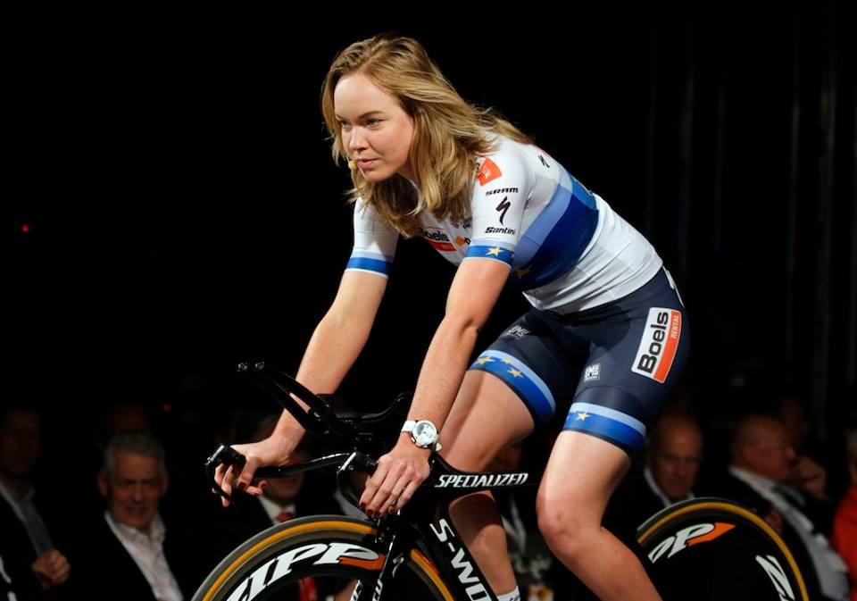 La campionessa europea e olimpica Anna Van der Breggen