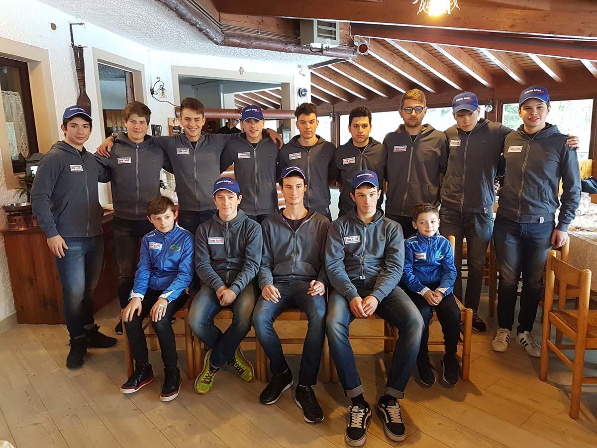 La squadra del Team Barblanco 2017