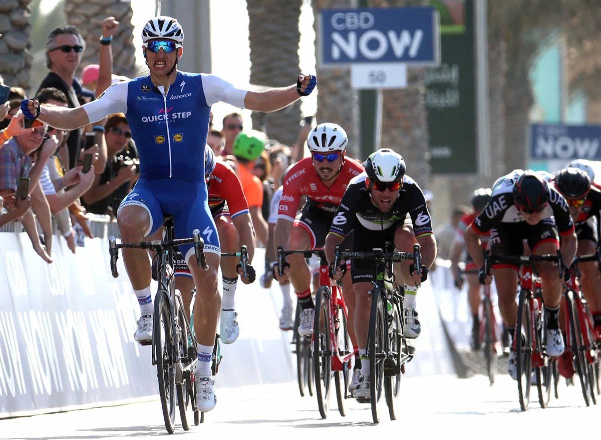 La vittoria di Marcel Kittel nella prima tappa del Dubai Tour