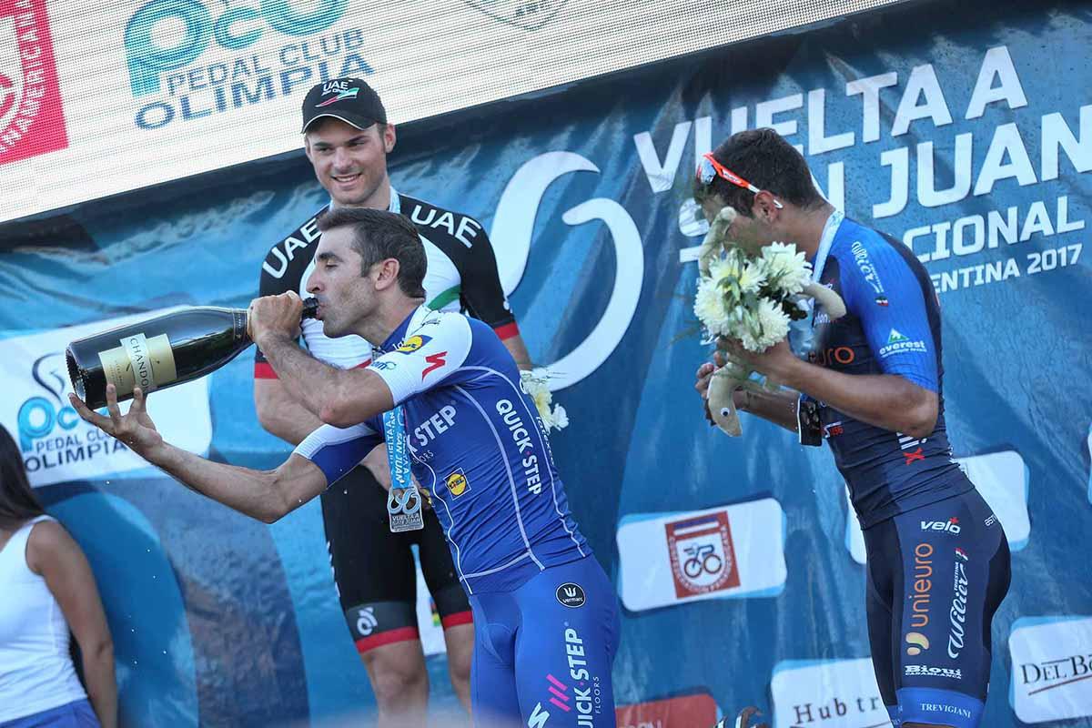 Il podio della sesta tappa della Vuelta a San Juan 2017