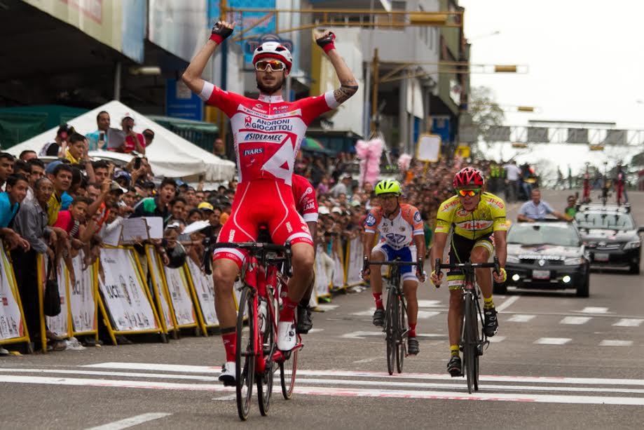 La vittoria di Raffaello Bonusi nella prima tappa della Vuelta al Tachira