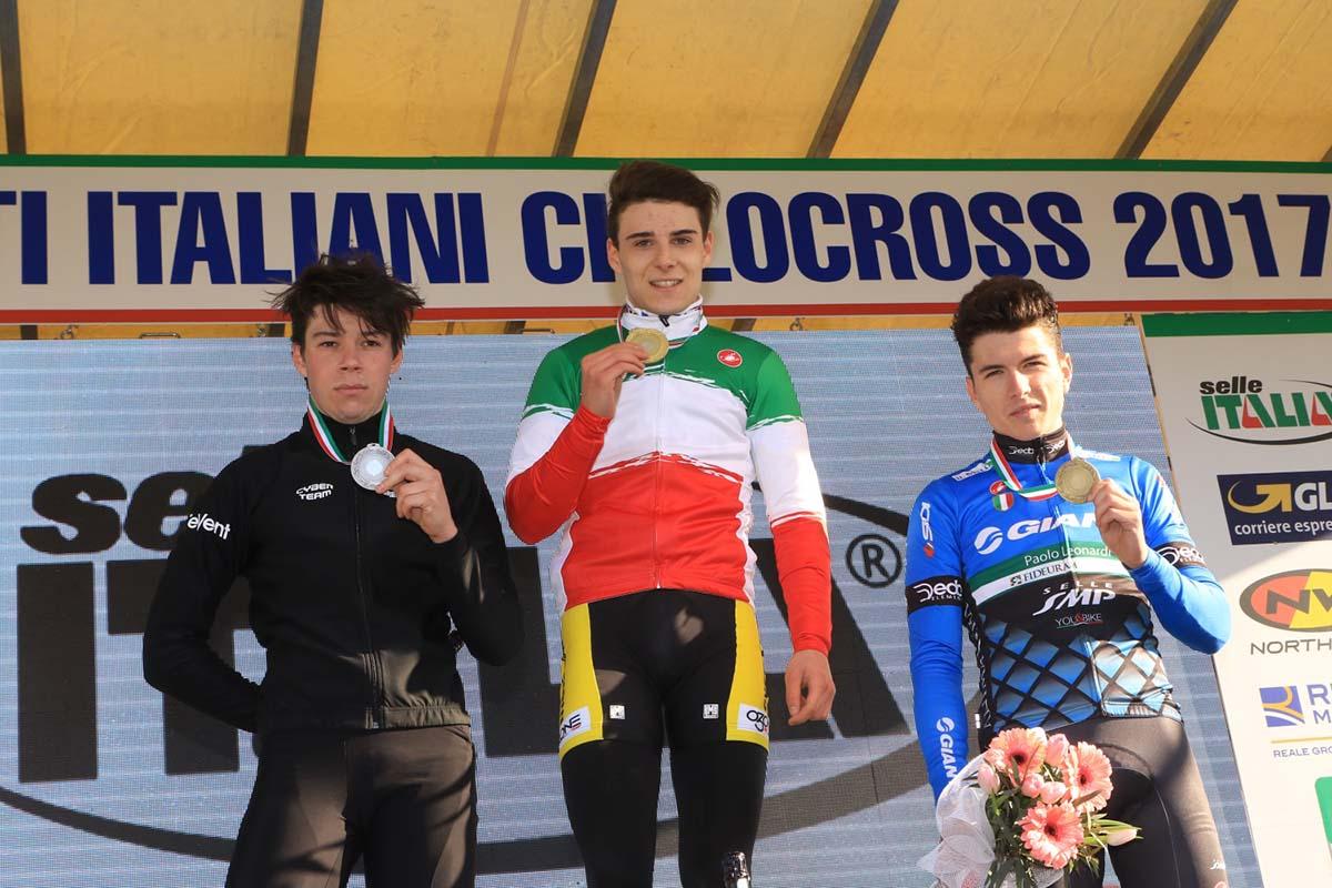 Il podio del Campionato Italiano Ciclocross 2017 Under 23