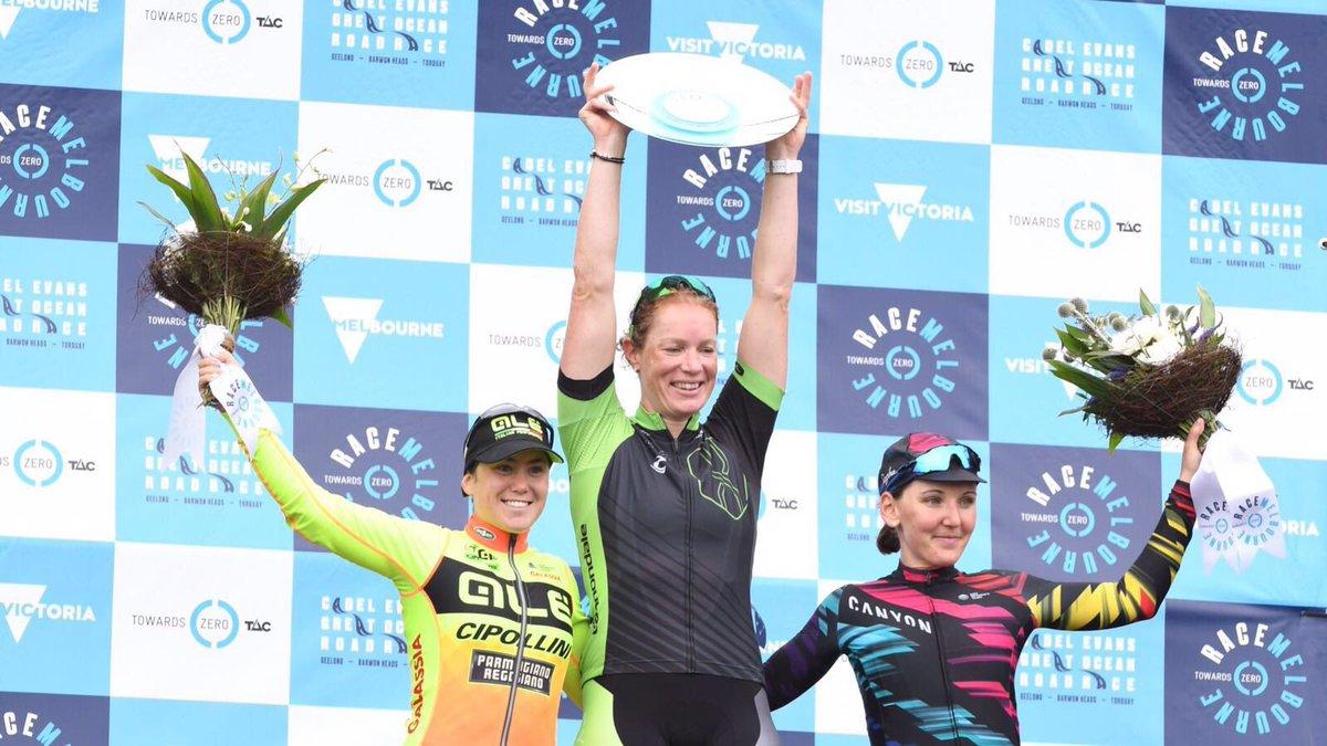 Il podio della Race Melbourne femminile 2017