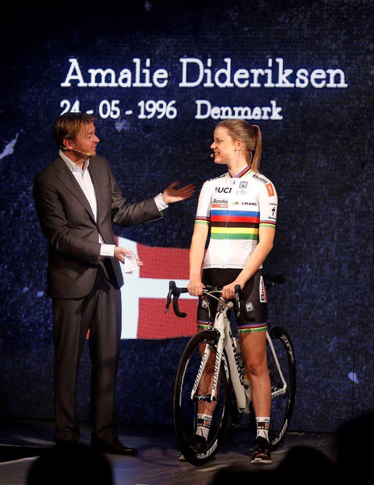 La campionessa del mondo Amalie Dideriksen