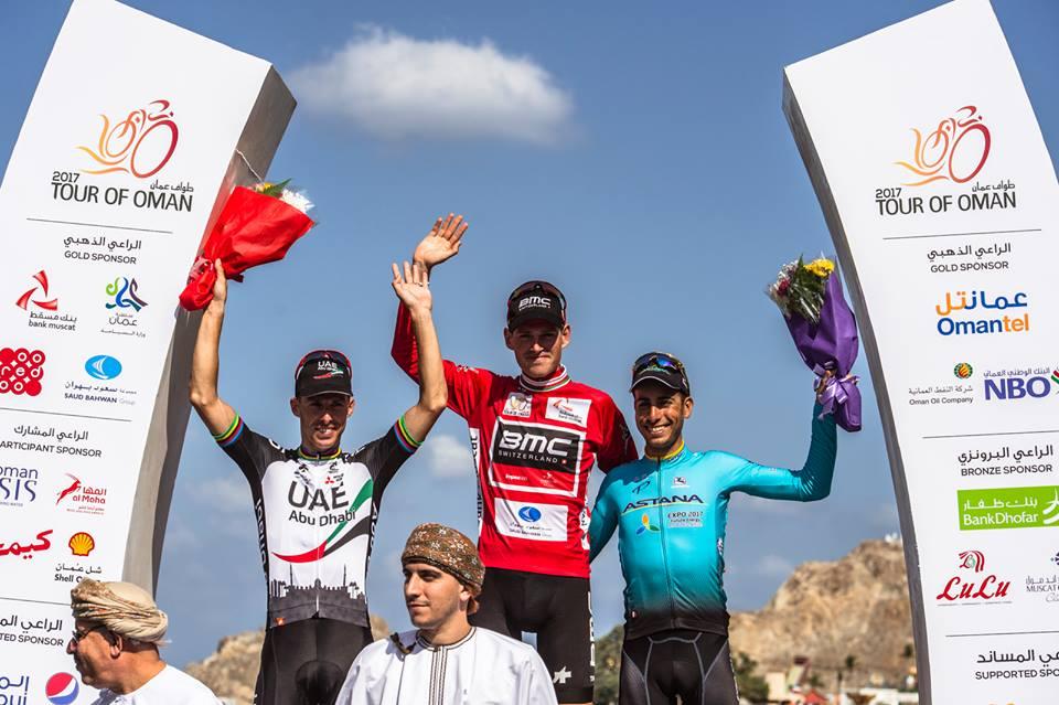 Il podio finale del Tour of Oman 2017