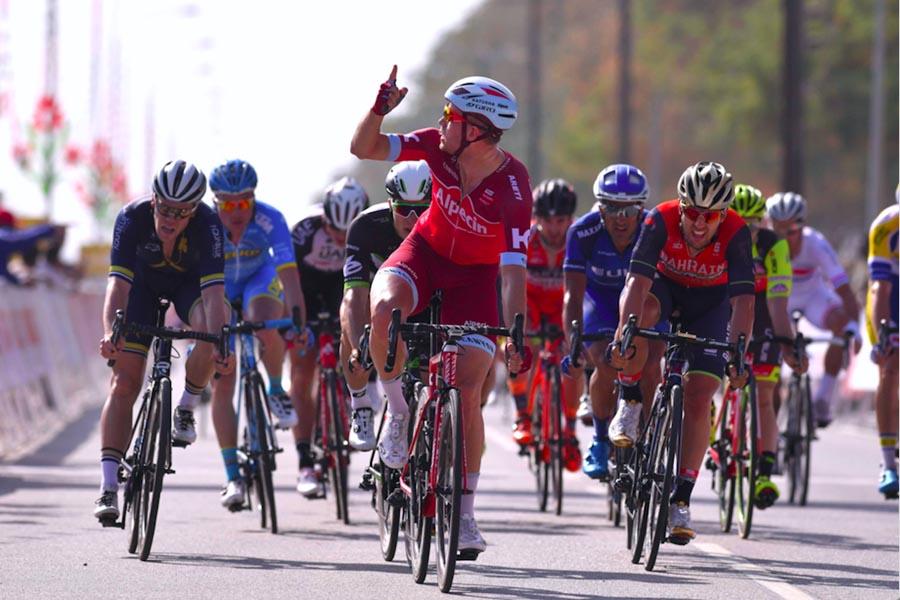 La vittoria di Alexander Kristoff nella prima tappa del Tour of Oman 2017