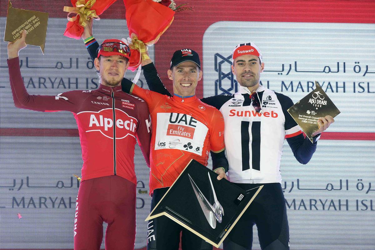 Rui Costa vincitore dell'Abu Dhabi Tour 2017 (foto ANSA)