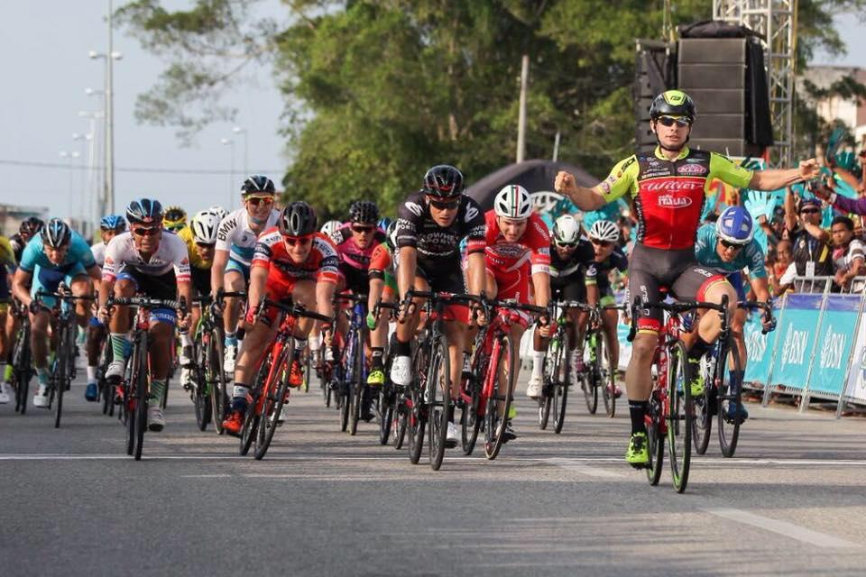 Jakub Mareczko vince la terza tappa del Tour de Langkawi 2017