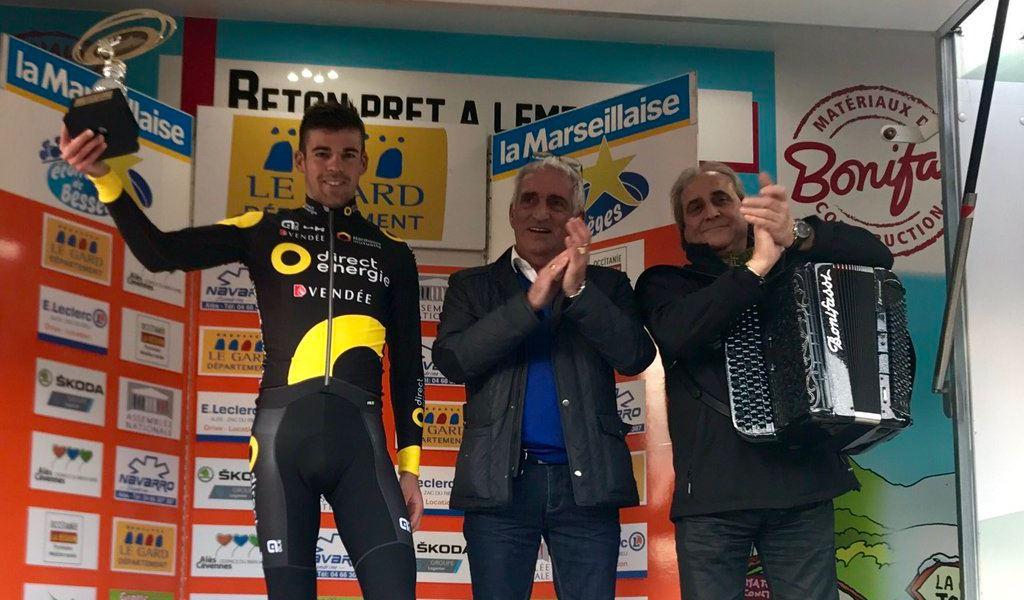 Lilian Calmejane vincitore della terza tappa dell'Etoile de Besseges