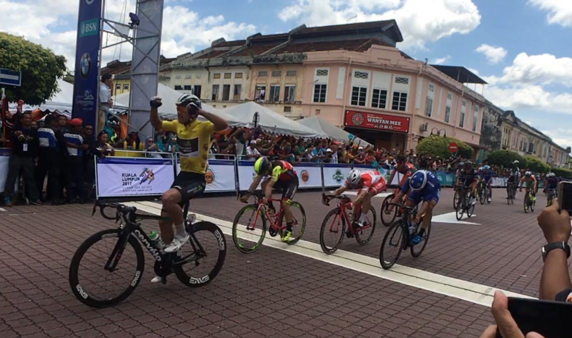 Ryan Gibbons vince la quinta tappa del Tour de Langkawi