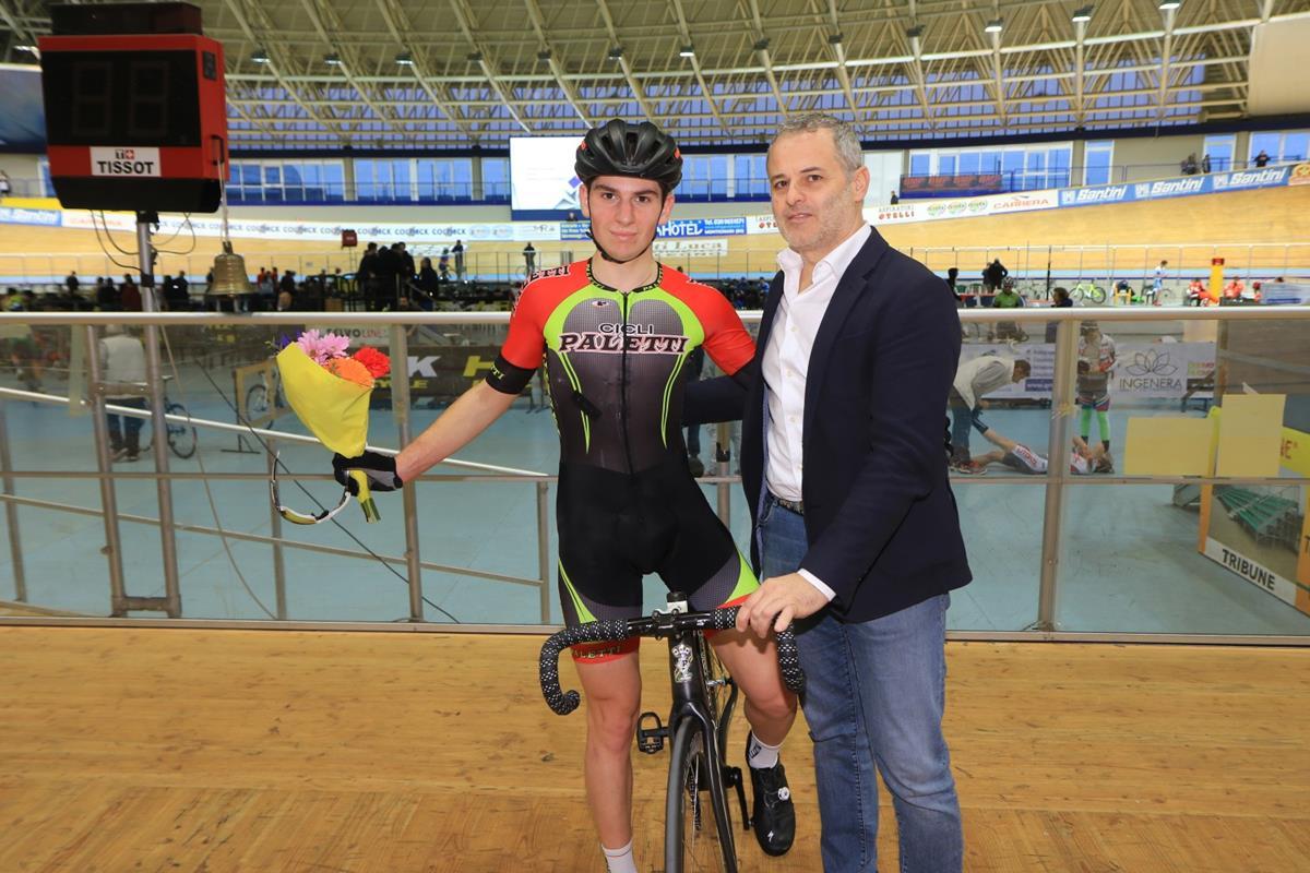 Flavio Cuppone vincitore della Corsa a punti Allievi