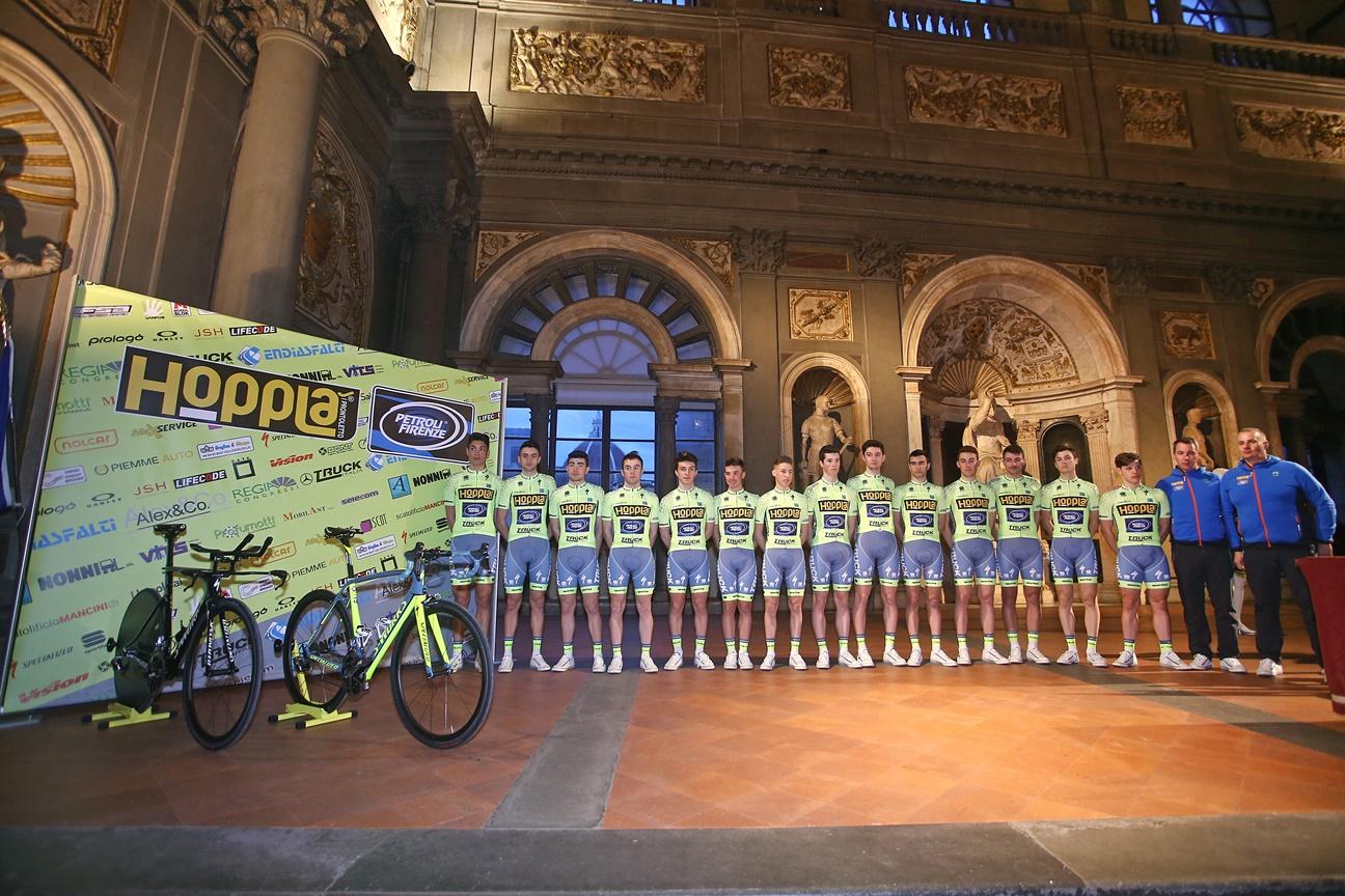La squadra della Hopplà Petroli Firenze 2017 (foto Scanferla)