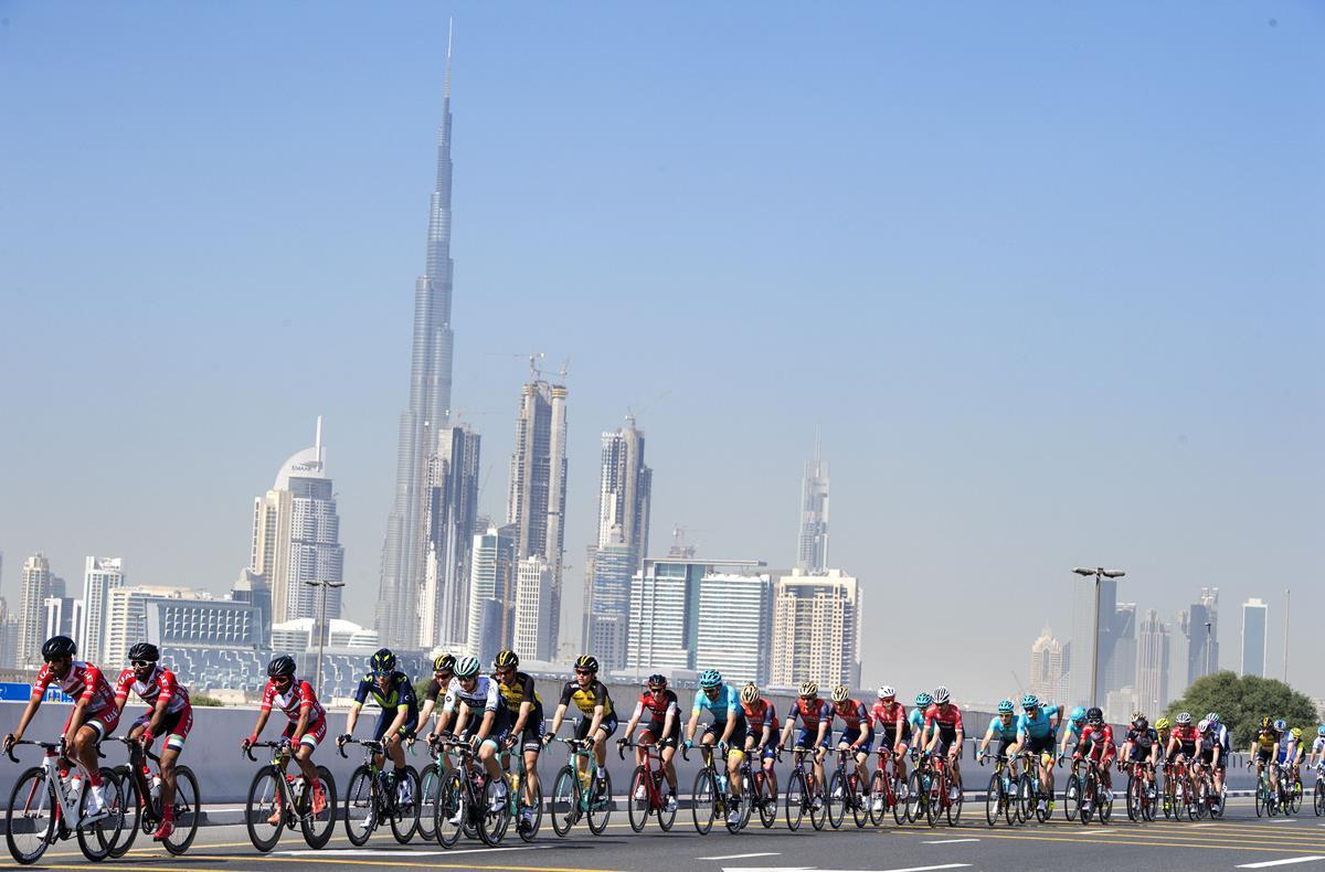 Un passaggio della seconda tappa Dubai Tour 2017