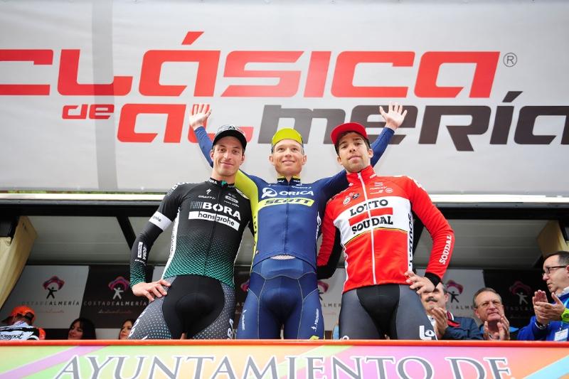 Il podio della Clasica de Almeria 2017