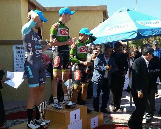 Il podio del Gp Oued Eddahab 2017