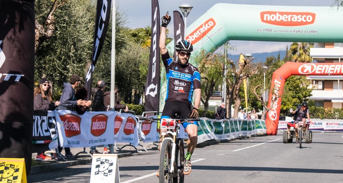 La vittoria di Andrea Tiberi all'Andora Bike