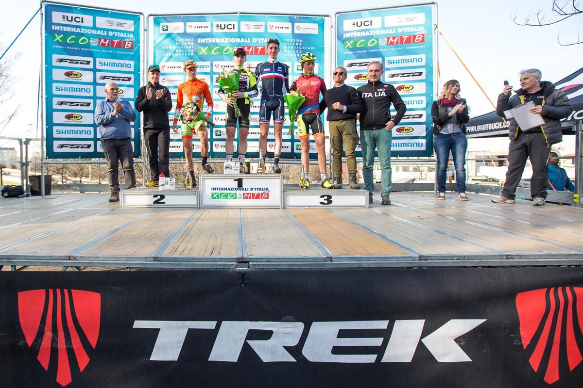 Il podio della UCI Junior Series maschile di Milano