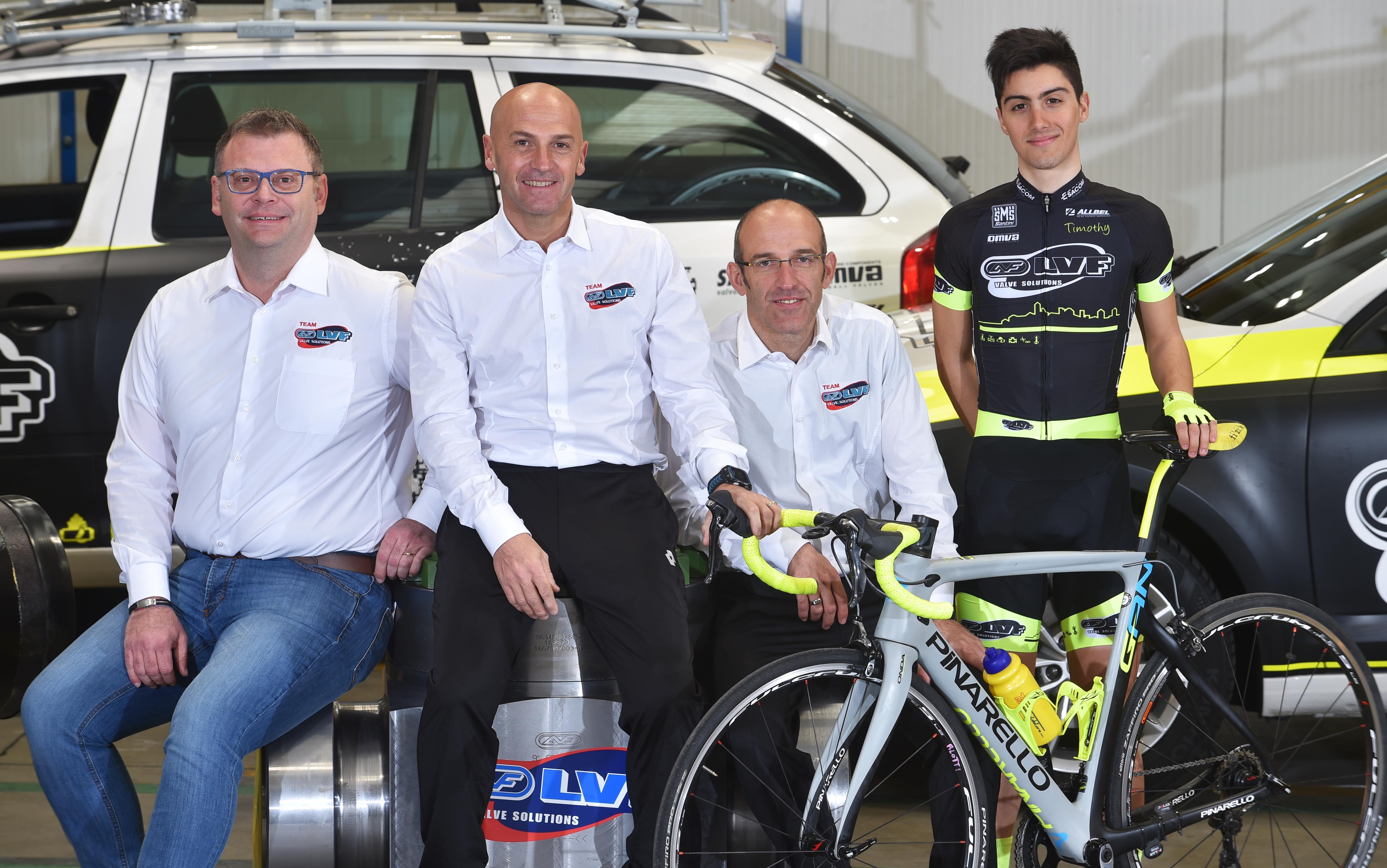 da sinistra: Raoul Parsani, Paolo Valoti, Marco Della Vedova e Samuele Rubino