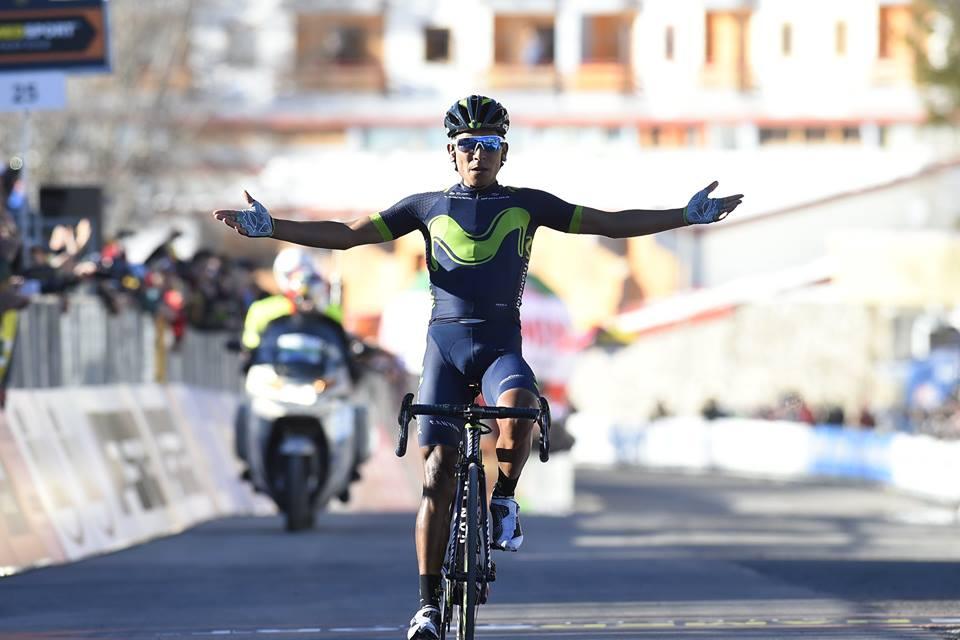 Nairo Quintana vince al Terminillo la quarta tappa della Tirreno-Adriatico 2017