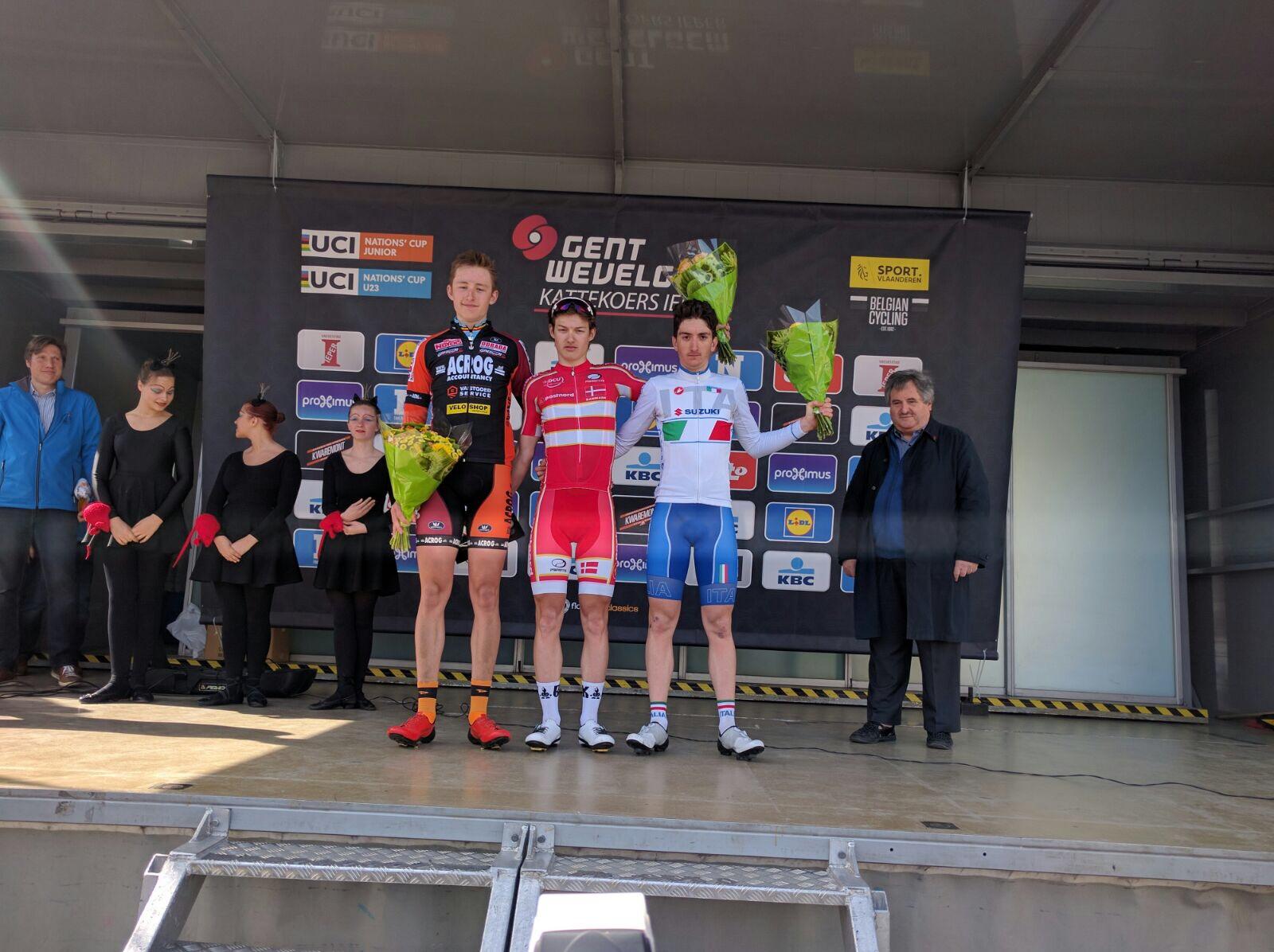 Il podio della Gand-Wevelgem Juniores 2017