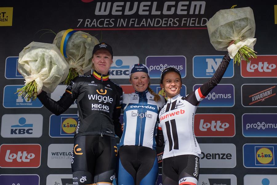 Il podio della Gand-Wevelgem Women Elite 2017