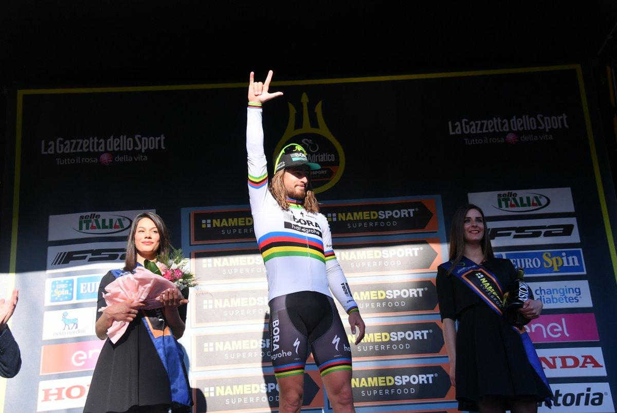 Peter Sagan vincitore della quinta tappa della Tirreno-Adriatico