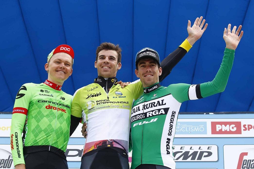 Il podio finale della Settimana Coppi e Bartali 2017