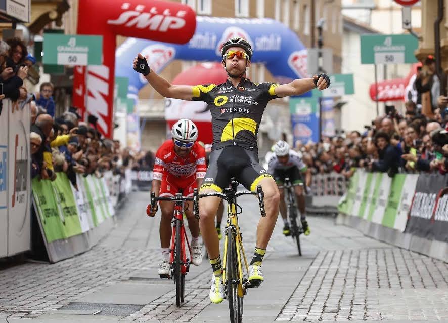 Il francese Lilian Calmejane vince l'ultima tappa e la classifica finale della Settimana Coppi e Bartali 2017