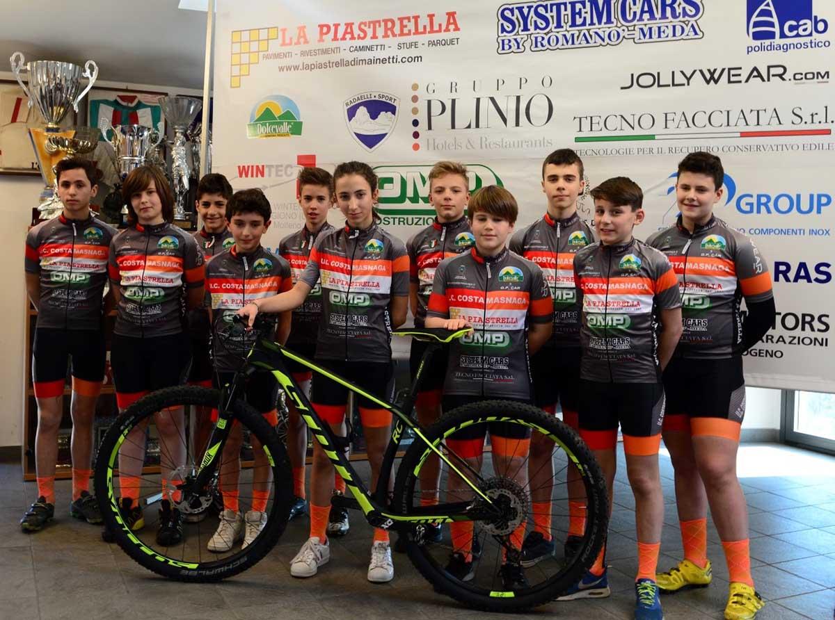 Uc Costamasnaga, squadra Esordienti MTB 2017