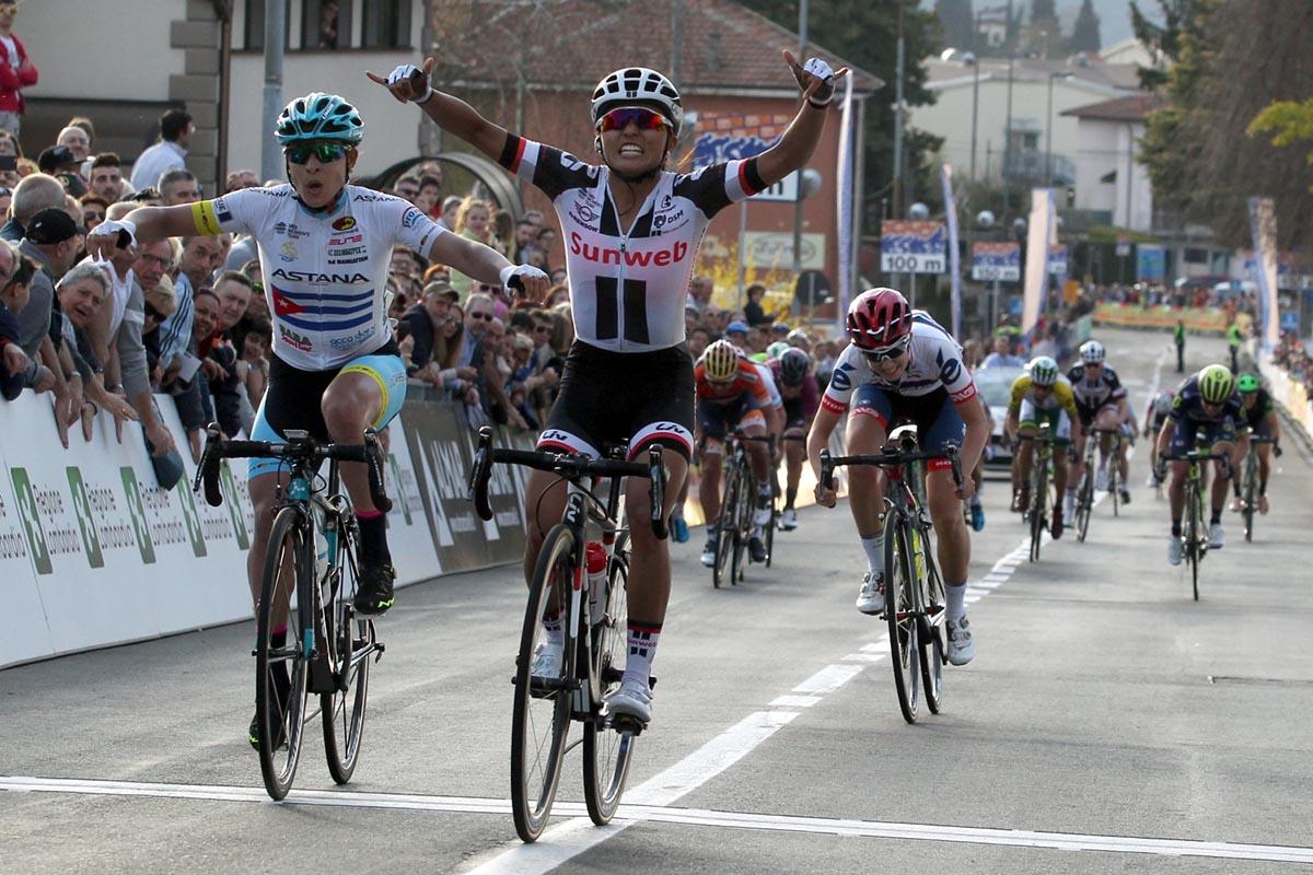 La vittoria di Coryn Rivera nel Trofeo Alfredo Binda 2017 di Cittiglio (foto Fabiano Ghilardi)
