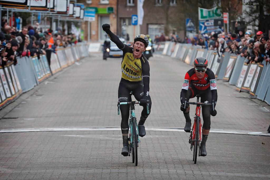 Jos Van Emden vincitore della prima edizione della Dwars door West-Vlaanderen Johan Museeuw Classic