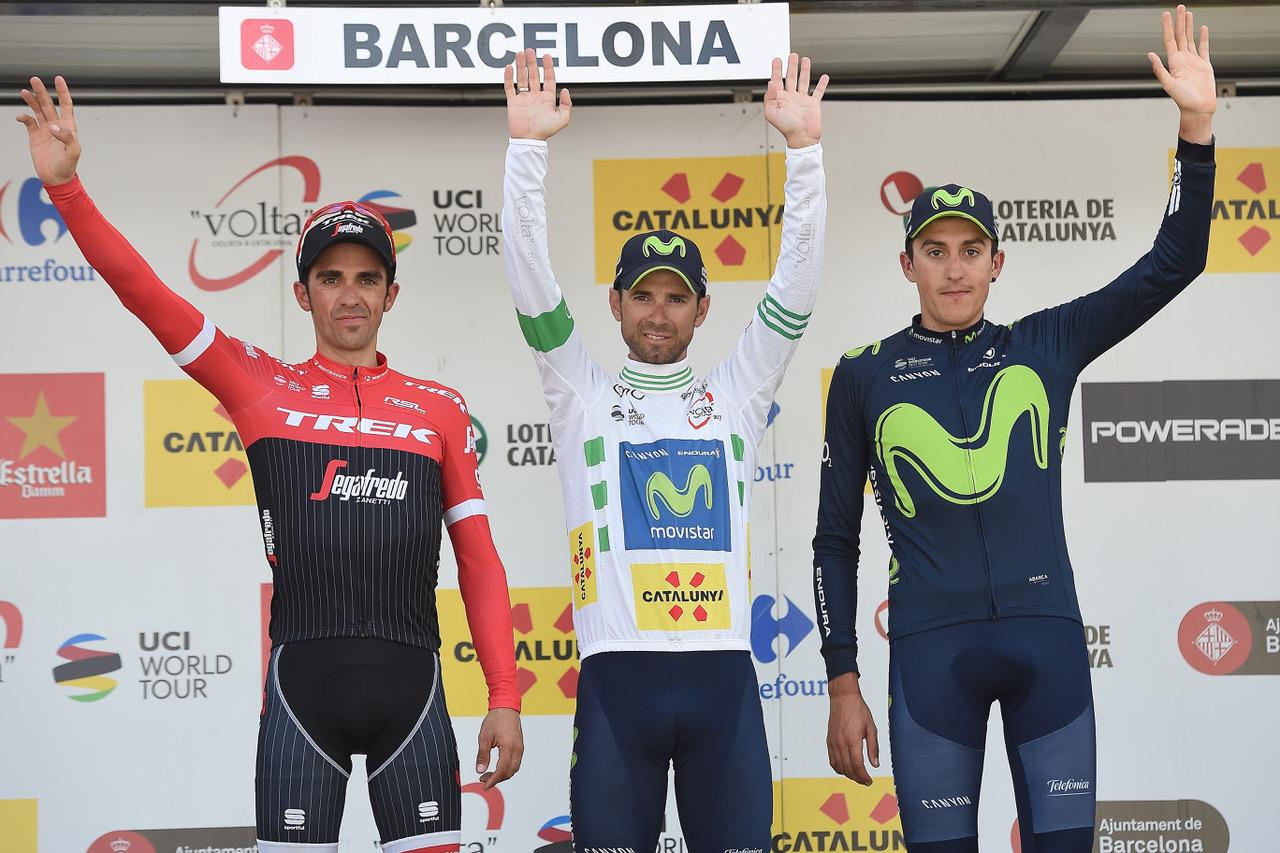 Il podio finale della Volta a Catalunya 2017
