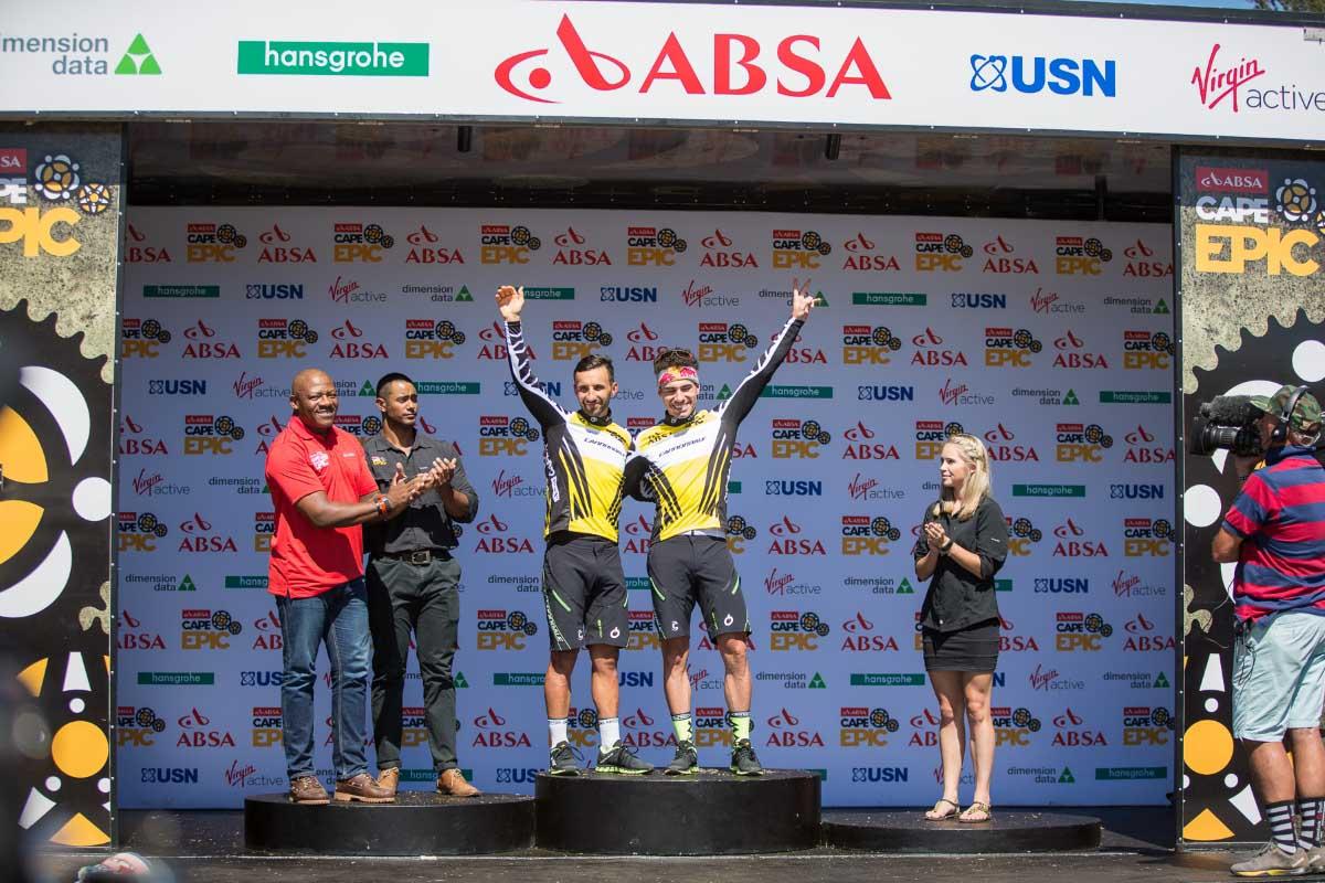 Il podio del prologo della Cape Epic 2017