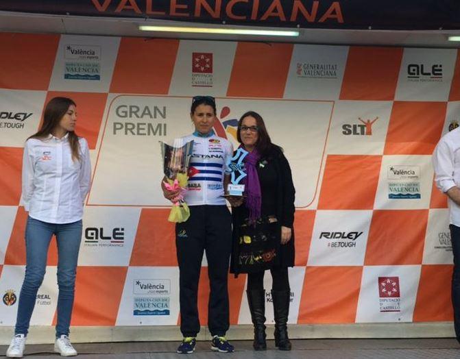 La cubana Arlenis Sierra (Astana Women's Team) vince la terza tappa della Samana Ciclista Valenciana