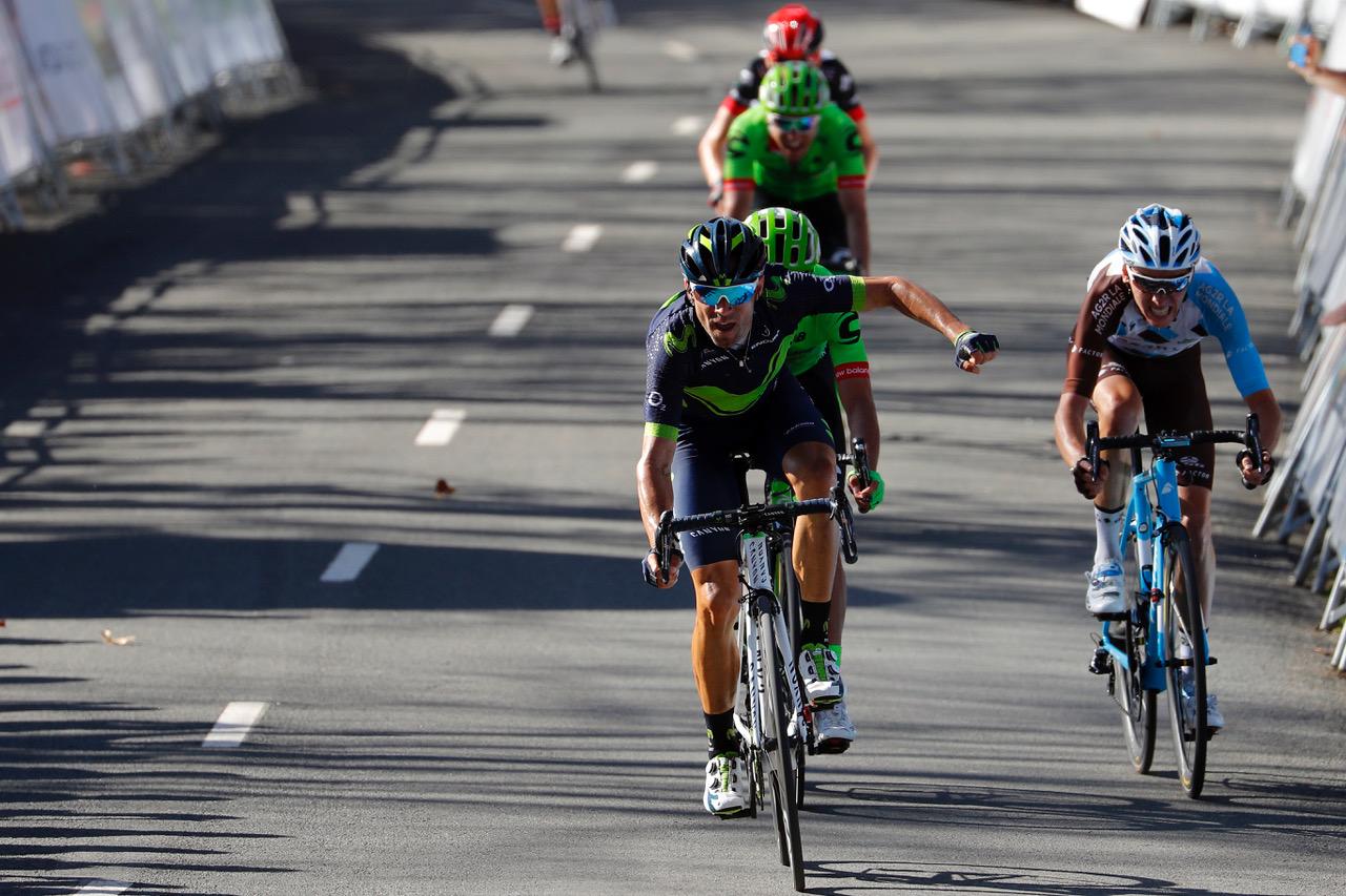 Alejandro Valverde vince la quinta tappa del Giro dei Paesi Baschi 2017