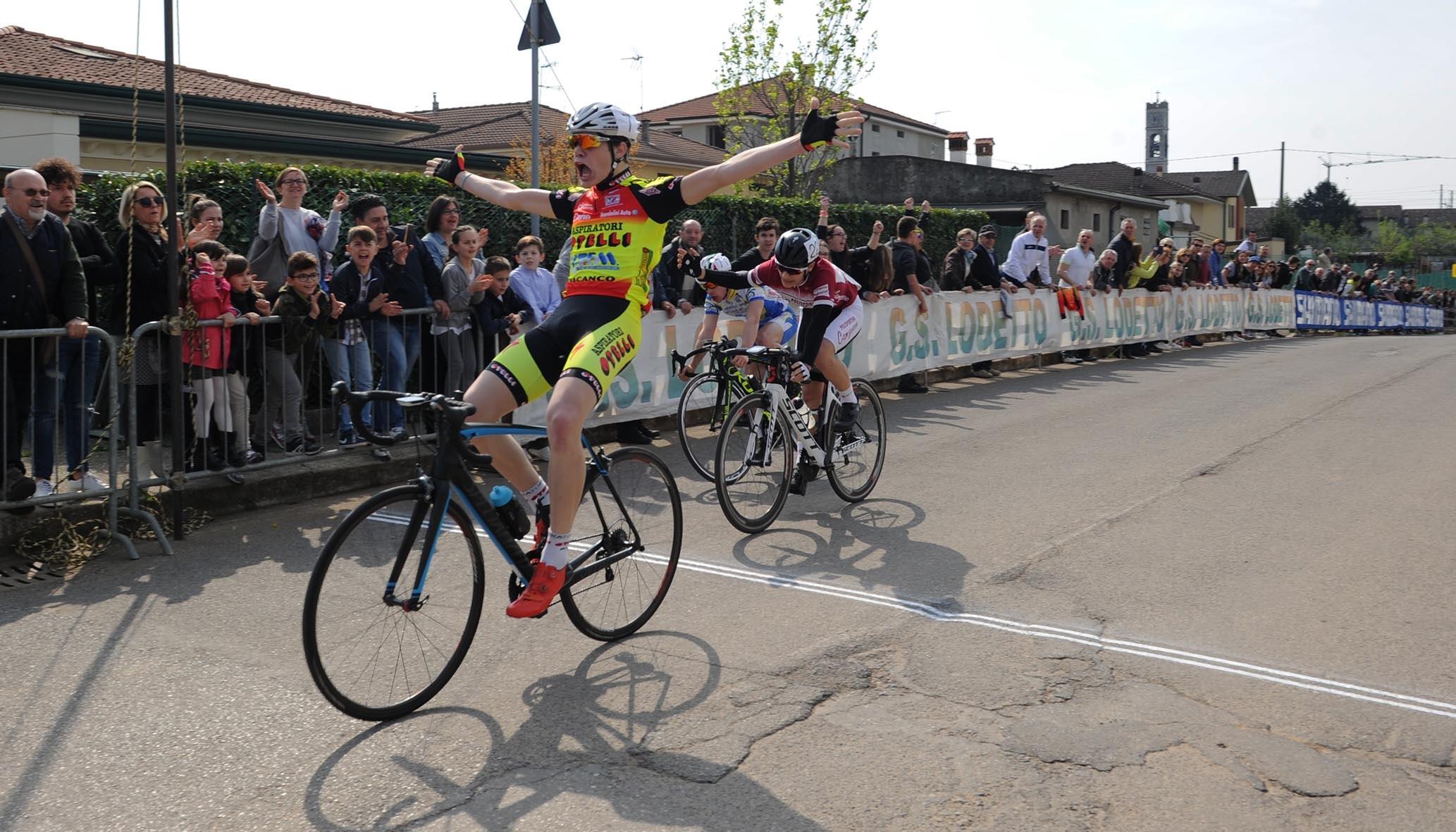 Gianluca Cordioli vince la gara Allievi di Lodetto di Rovato