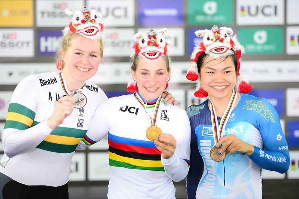Il podio della Velocità femminile