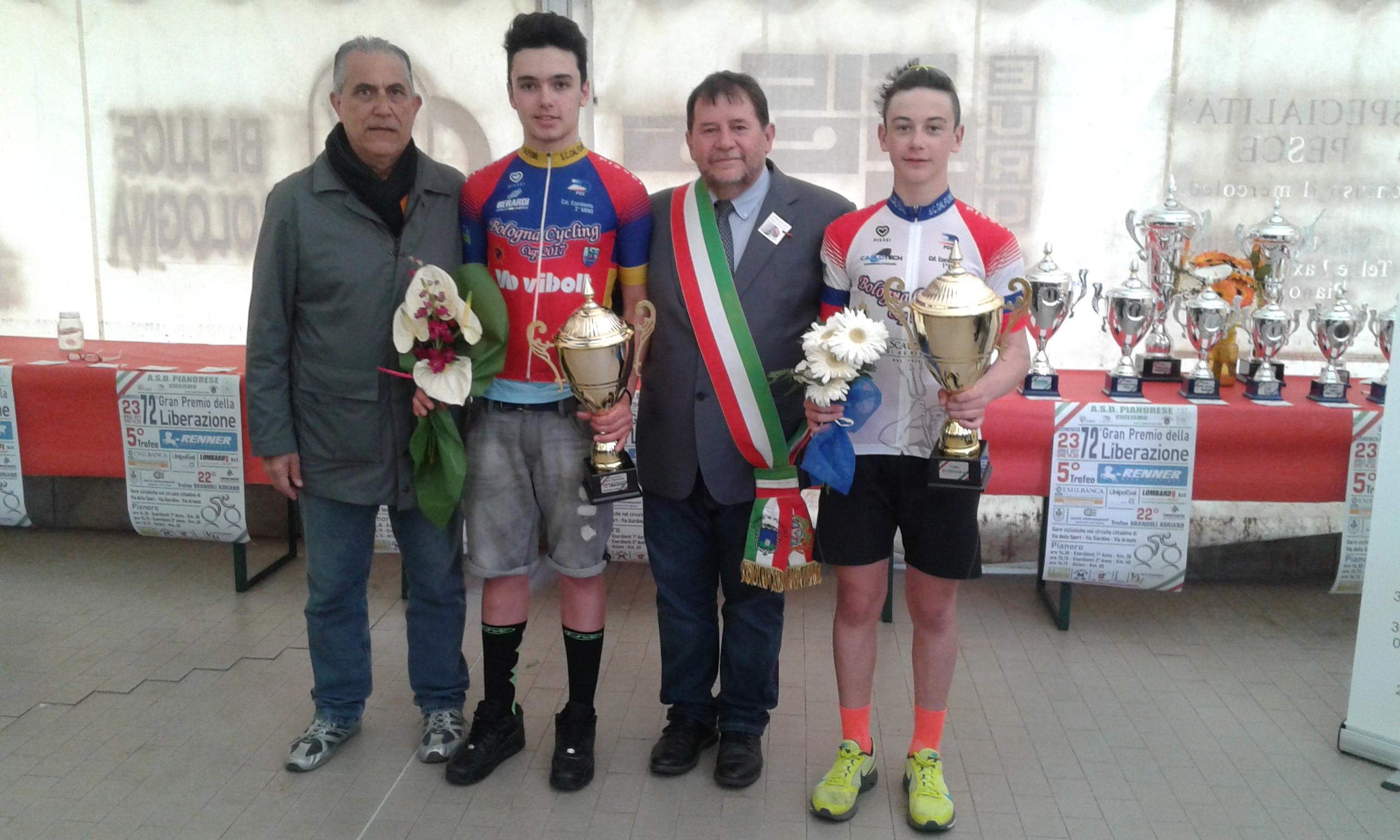 Mirco Benasciutti e Nicolò Costa Pellicciari primi leader della Bologna Cycling Cup per Esordienti