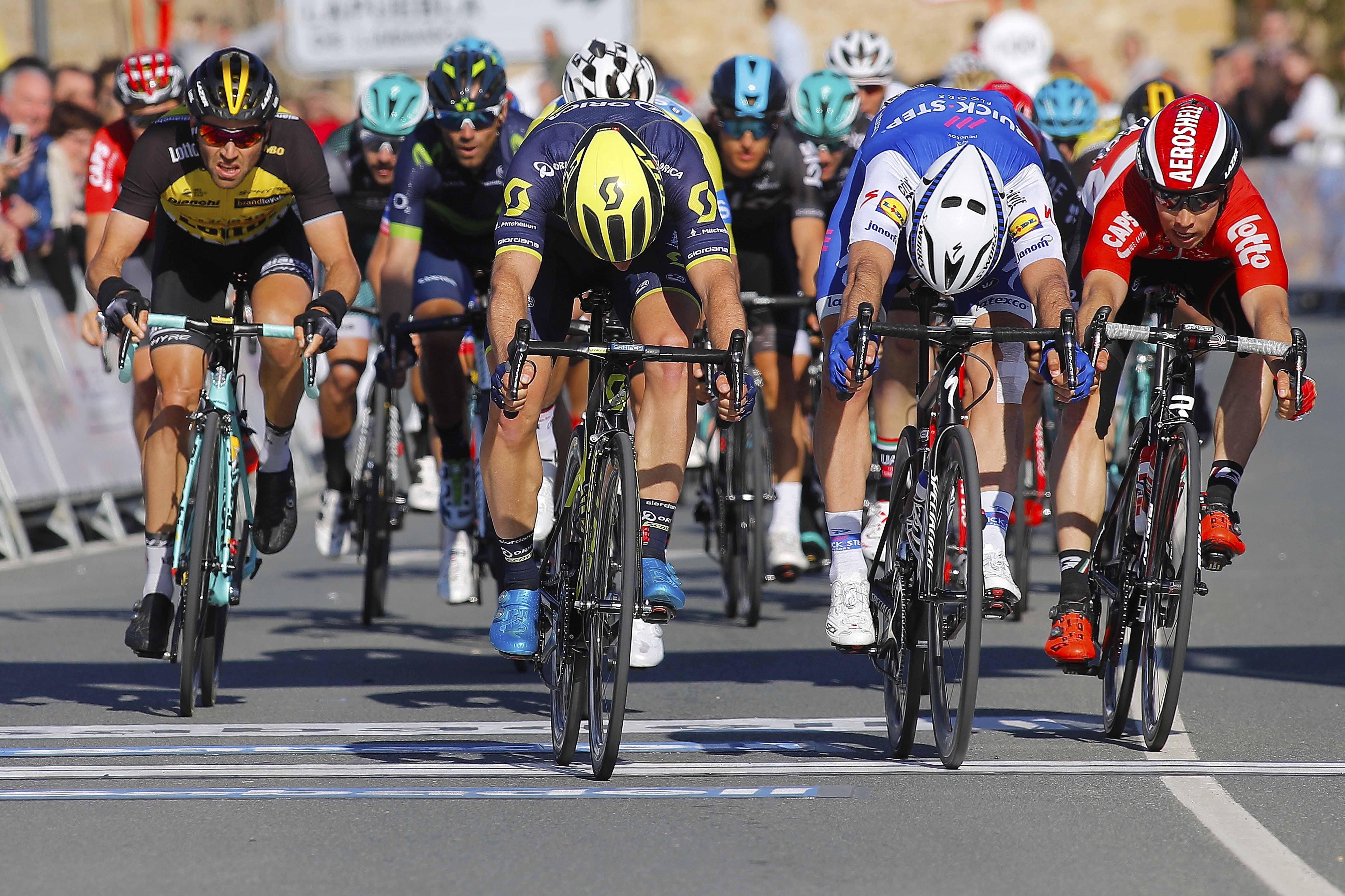 La volata che ha deciso la seconda tappa del Giro del Marocco