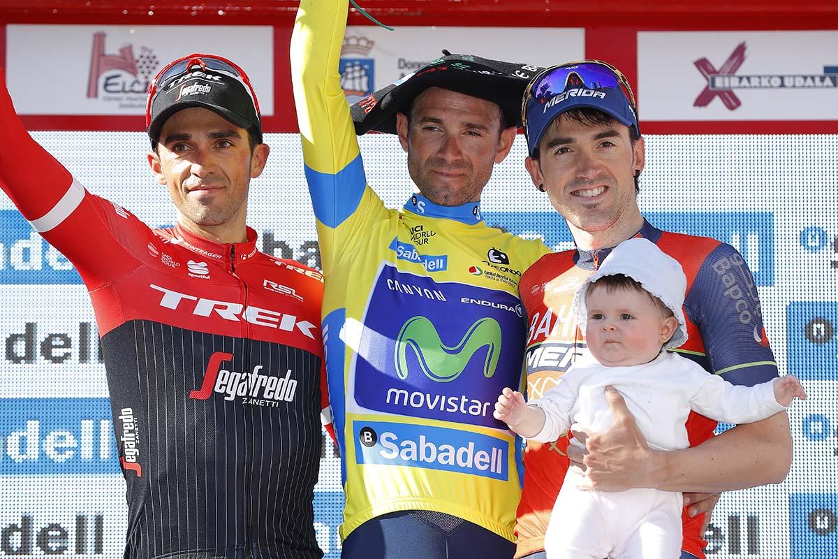 Il podio finale del Giro dei Paesi Baschi 2017 vinto da Alejandro Valverde