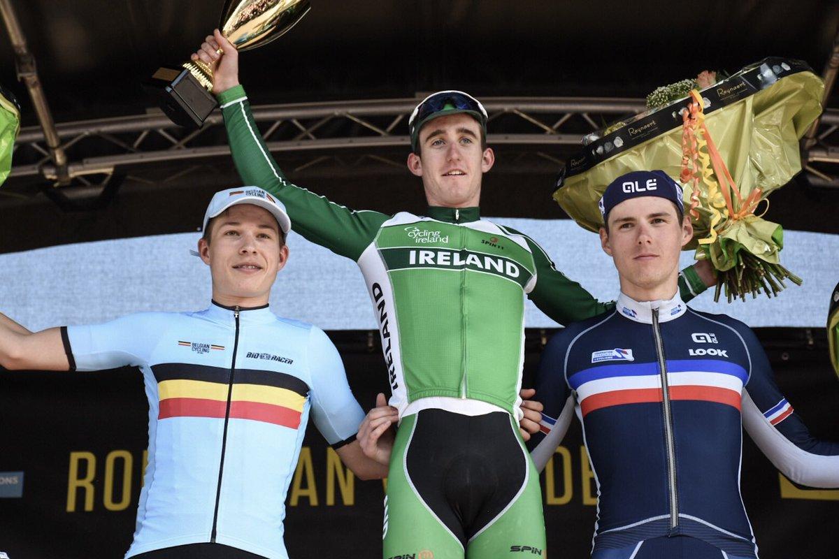 Il podio del Giro delle Fiandre Under 23 edizione 2017