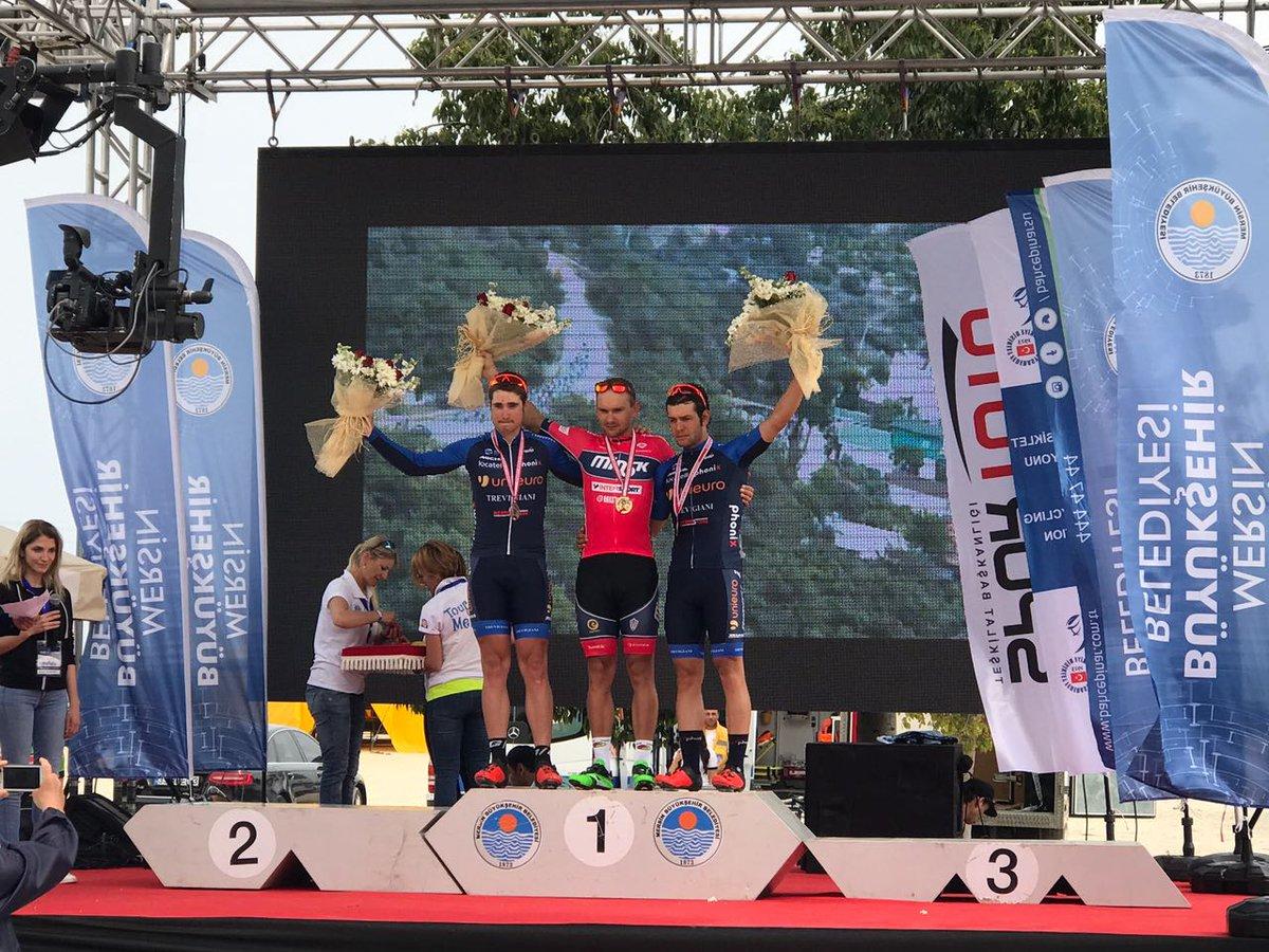 Il podio della seconda tappa del Tour of Mersin 2017