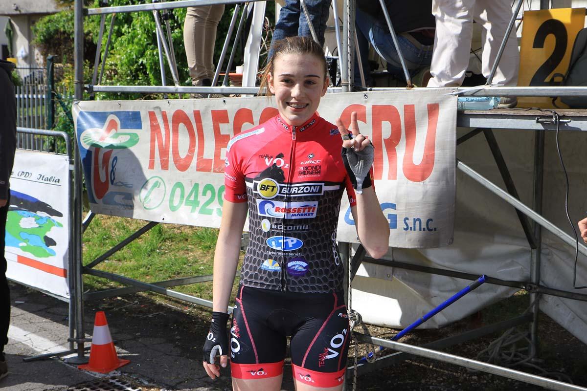 La vincitrice della gara Donne Esordienti Greta Bonazzoli